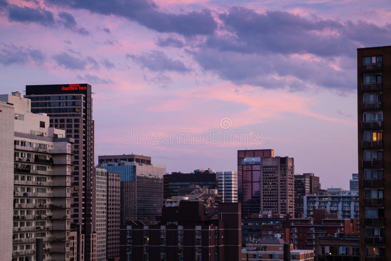 Центр города Монреаля сверху стоковое фото