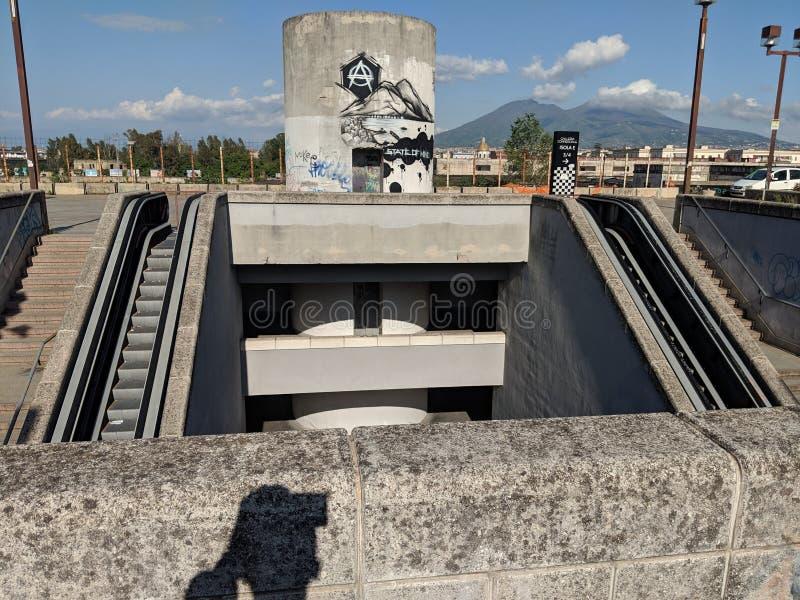 Центр города Неаполь стоковые фотографии rf