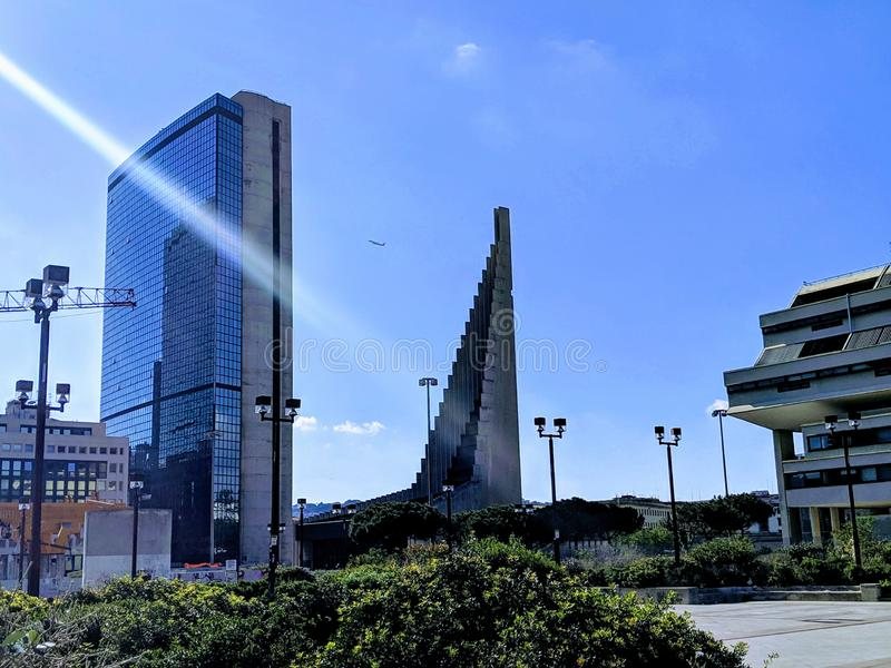 Центр города Неаполь стоковое фото