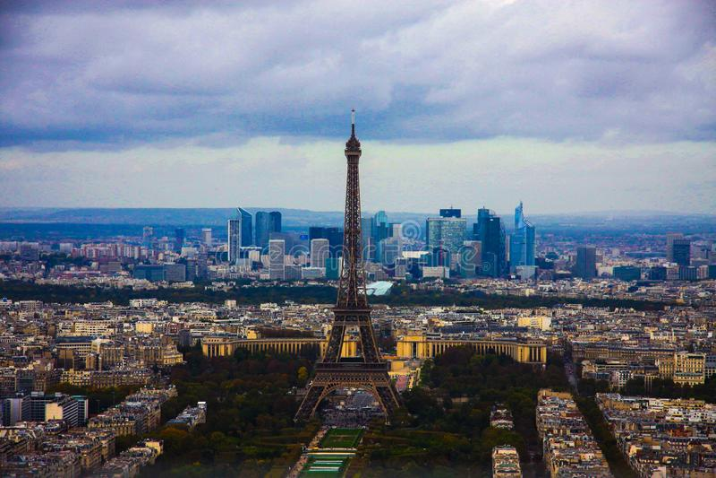 Центр города города Парижа Eifeltower Парижа стоковые фото