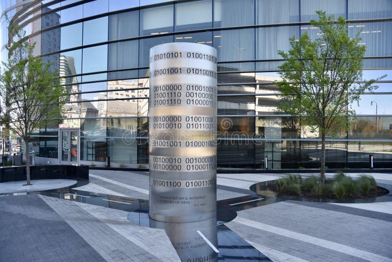 Центр города площади HG Wells, Нашвилл, TN стоковая фотография
