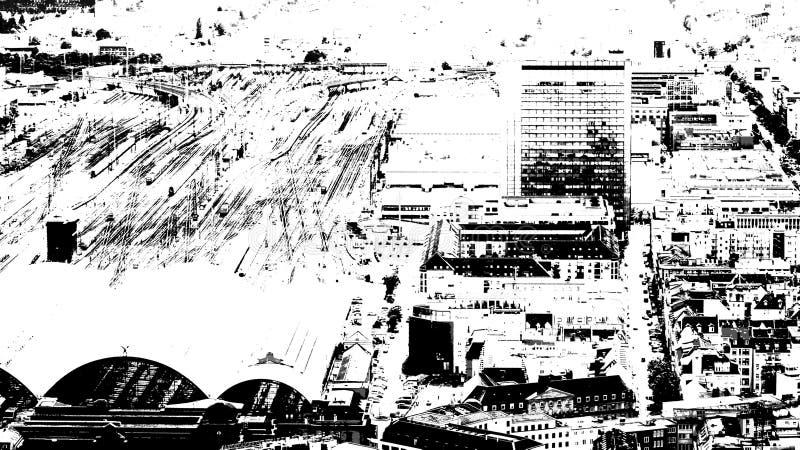 Центр города Франкфурта-на-Майне стоковая фотография rf