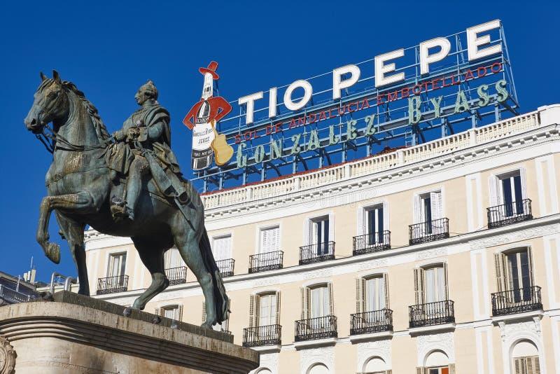 Центр города центра города Мадрида Puerta del Sol Испания стоковое фото