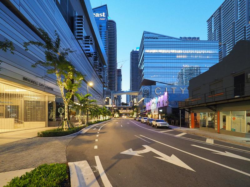 Центр города Brickell, Майами стоковые изображения rf