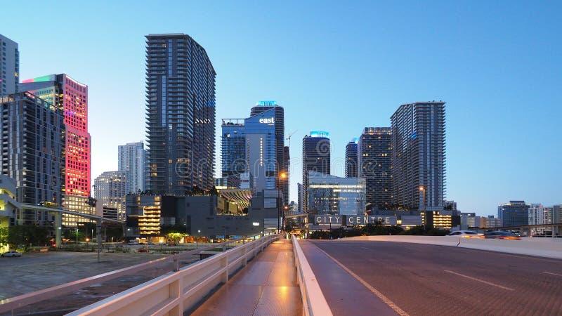 Центр города Brickell, Майами стоковое изображение