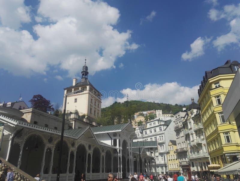 Центр города Karlovy меняет в чехии стоковое изображение