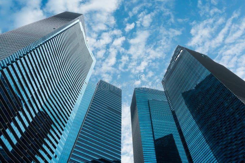 Центр города дела и небоскребы, многоэтажные здания, современное a стоковые фото
