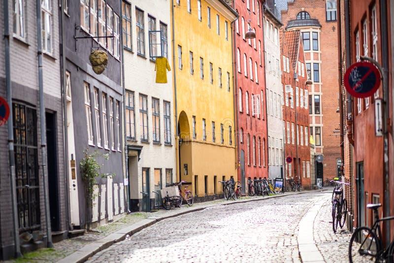 Центр города Копенгагена исторический стоковое фото