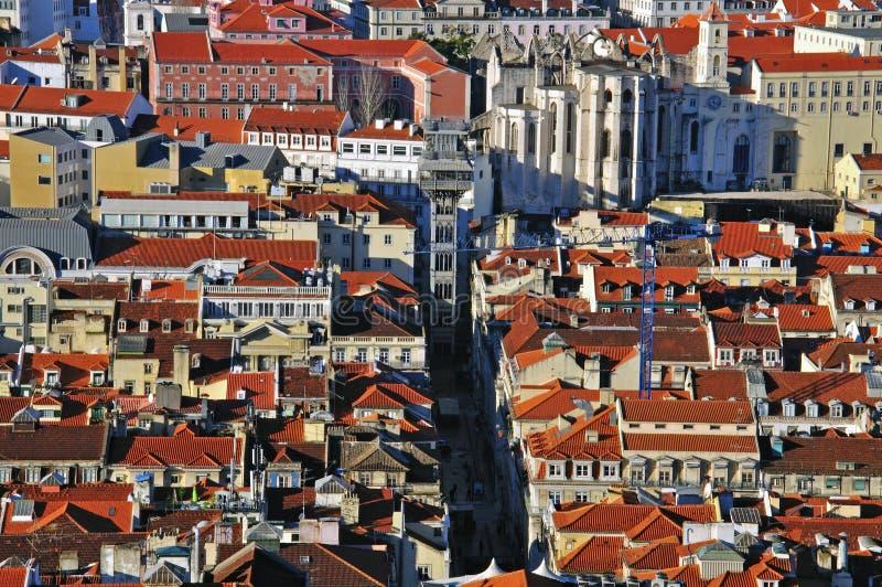 Центр города Лиссабона стоковая фотография