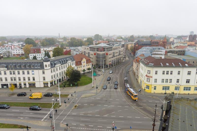 Центр города над взглядом стоковые фотографии rf