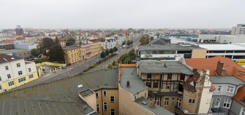 Центр города над взглядом стоковые изображения