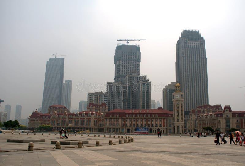 Центр города, Тяньцзинь, Китай стоковое фото rf