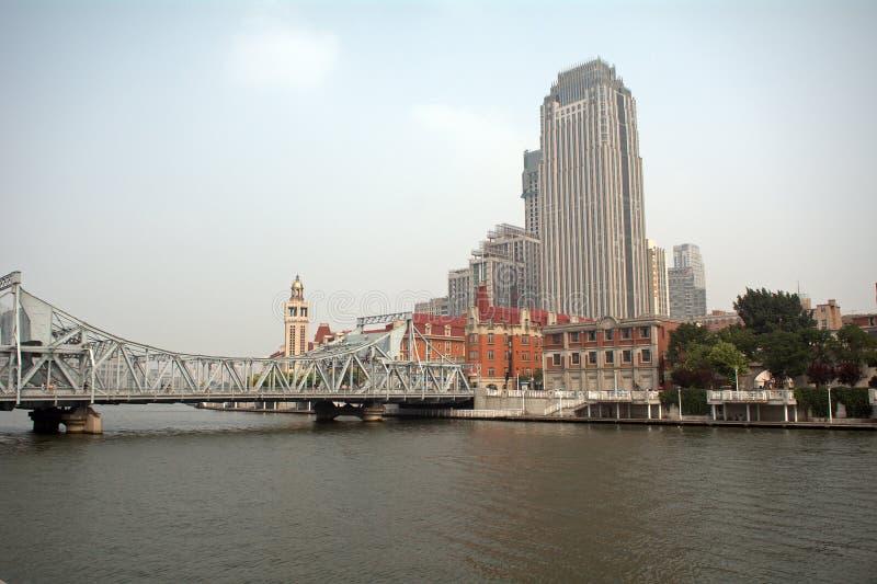 Центр города, Тяньцзинь, Китай стоковые фото