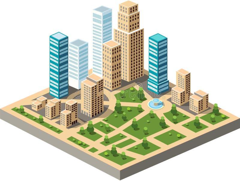 Центр города иллюстрация вектора