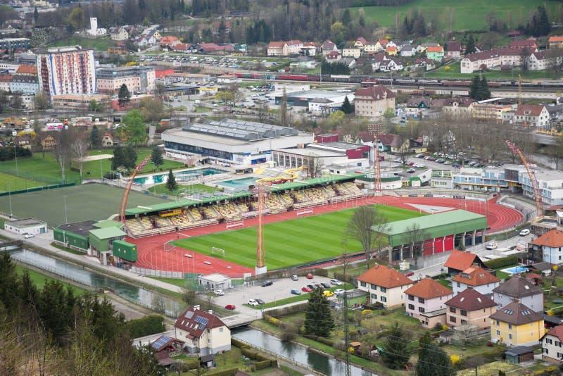 Центр города Kapfenberg стоковое изображение rf