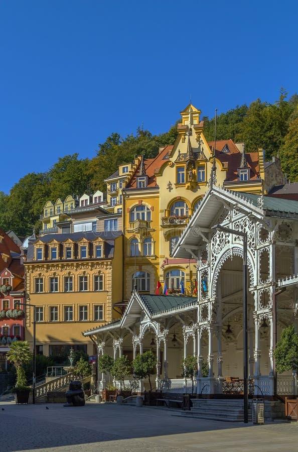 Центр города Karlovy меняет, чехия стоковое изображение