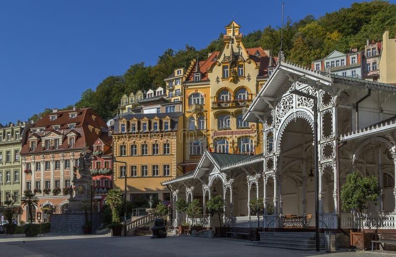 Центр города Karlovy меняет, чехия стоковая фотография rf
