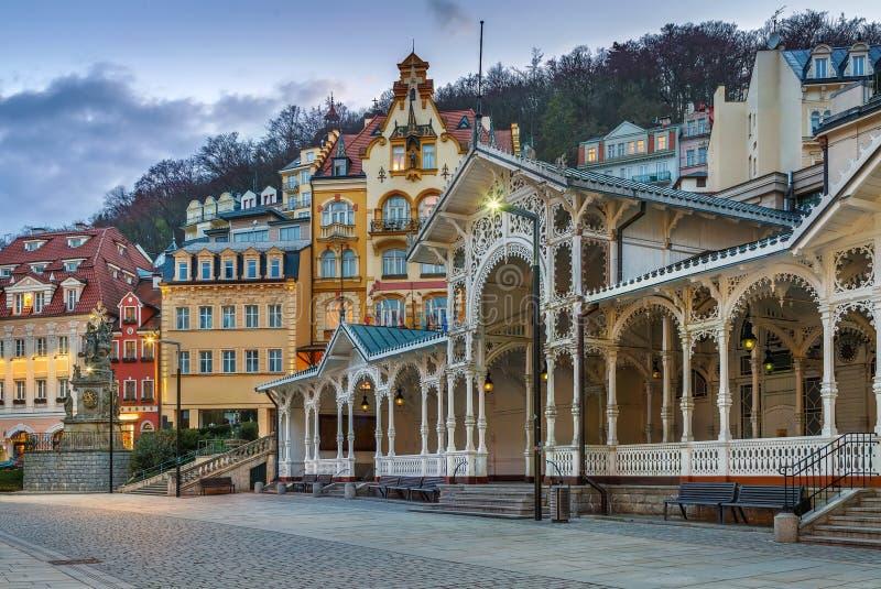 Центр города Karlovy меняет, чехия стоковое фото rf