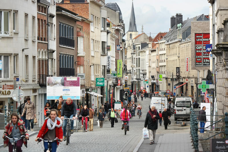 Центр города Mechelen стоковое фото rf