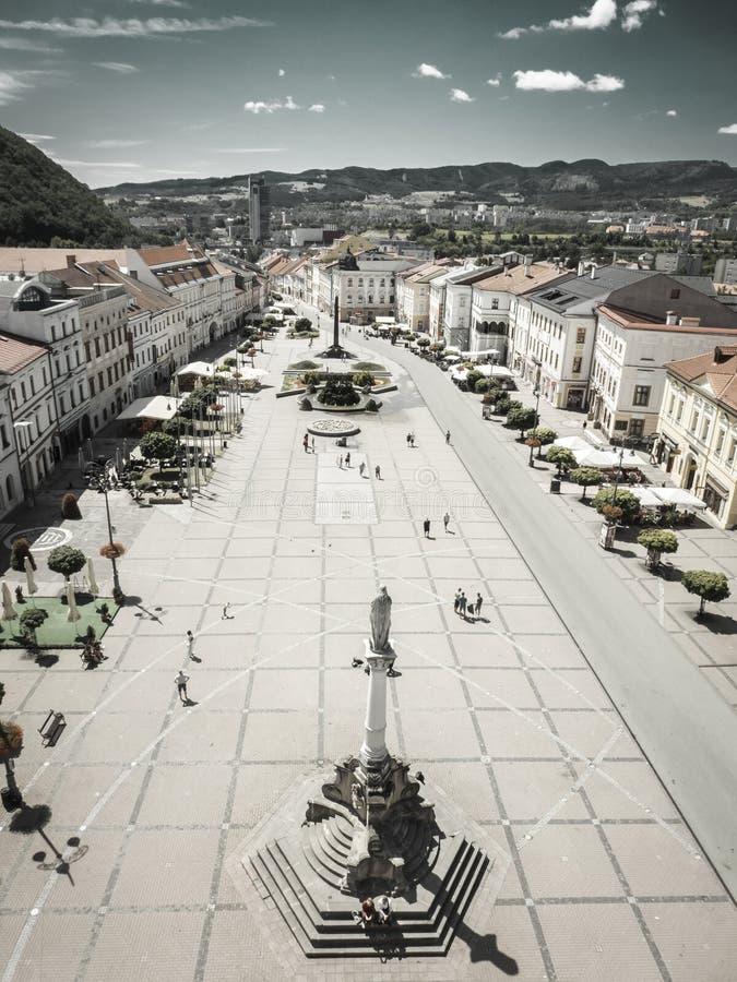 Центр городка Banska Bystrica, Словакии стоковые фото
