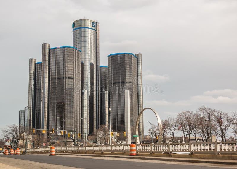 Центр Детройт ренессанса GM стоковые изображения