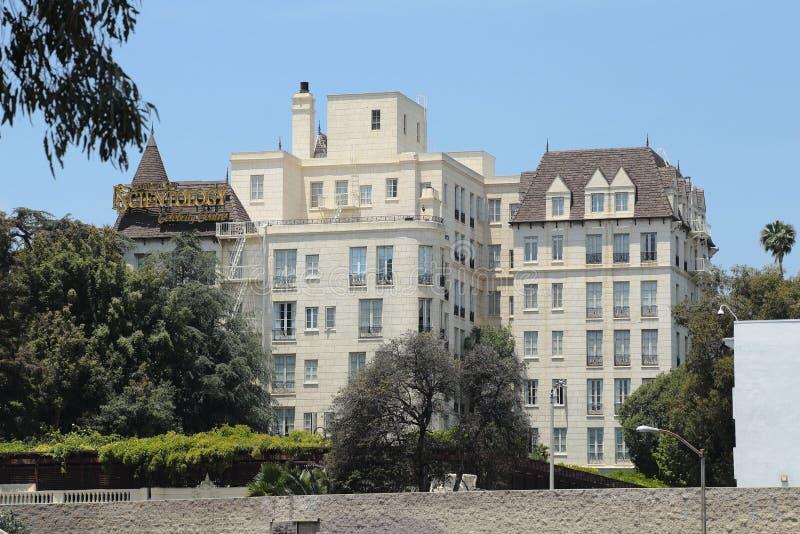 Центр знаменитости Сайентологии в Голливуде стоковые изображения