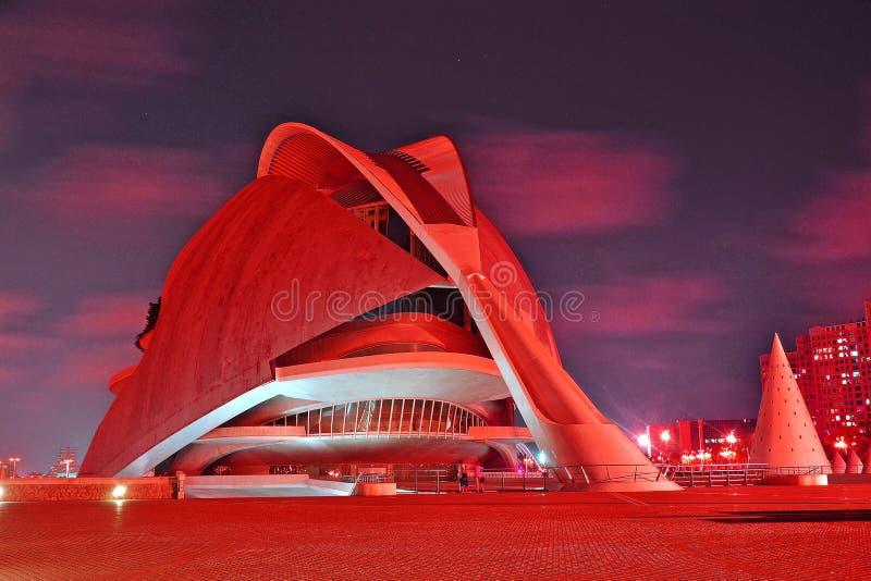 Центр искусства и науки в Валенсии стоковые изображения rf