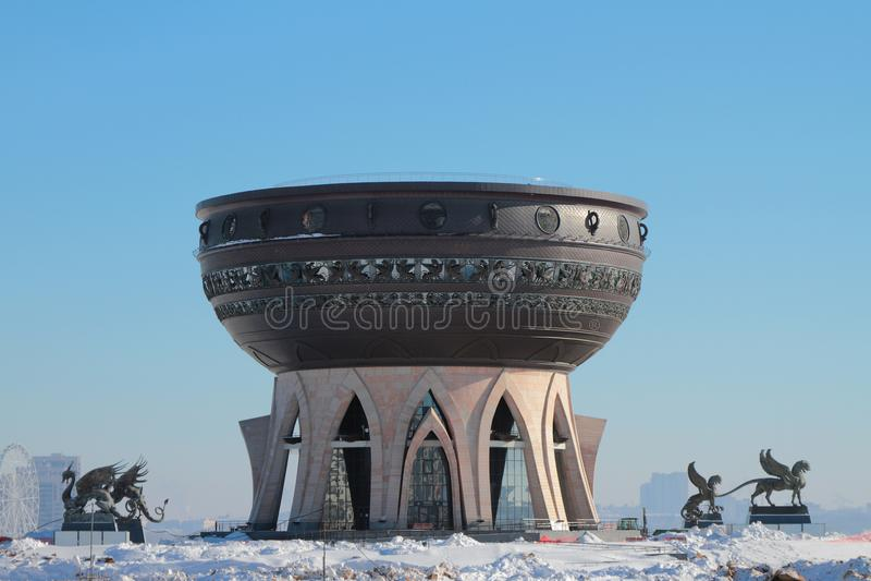Центр ` Казани ` семьи в зиме kazan Россия стоковое фото rf