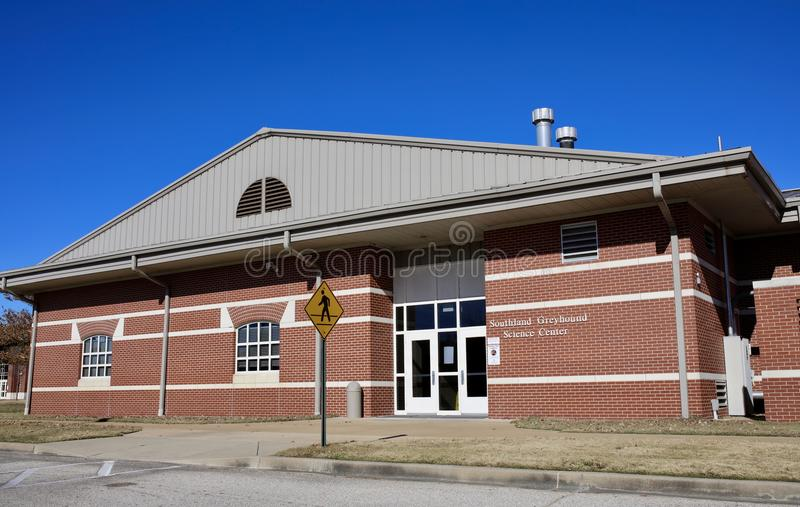 Центр на Средний-юге ASU, западный Мемфис науки борзой Southland, Арканзас стоковые фотографии rf