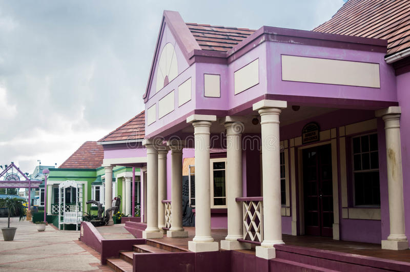 Центр ремесла пеликана производя здание, Бриджтаун, Барбадос стоковые фотографии rf