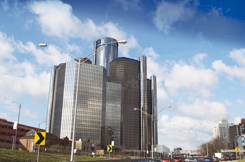 Центр ренессанса Детройта в городском Детройте стоковое изображение