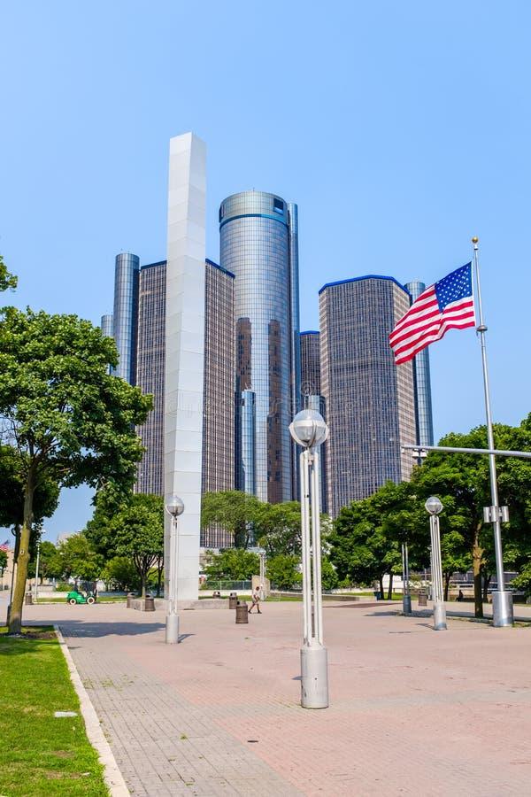 Центр ренессанса GM в Детройт стоковое изображение rf