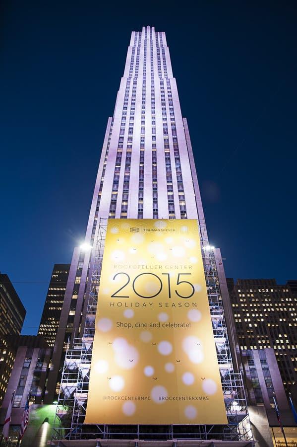 Центр Рокефеллер, Нью-Йорк, Нью-Йорк, США стоковые изображения rf