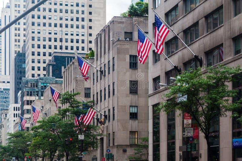 Центр Рокефеллер Пятой авеню стоковые фотографии rf