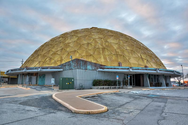 Центр события купола золота в Оклахома-Сити, ОК стоковые изображения