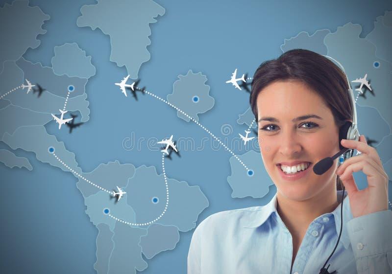 Центр телефонного обслуживания авиакомпаний стоковое изображение rf
