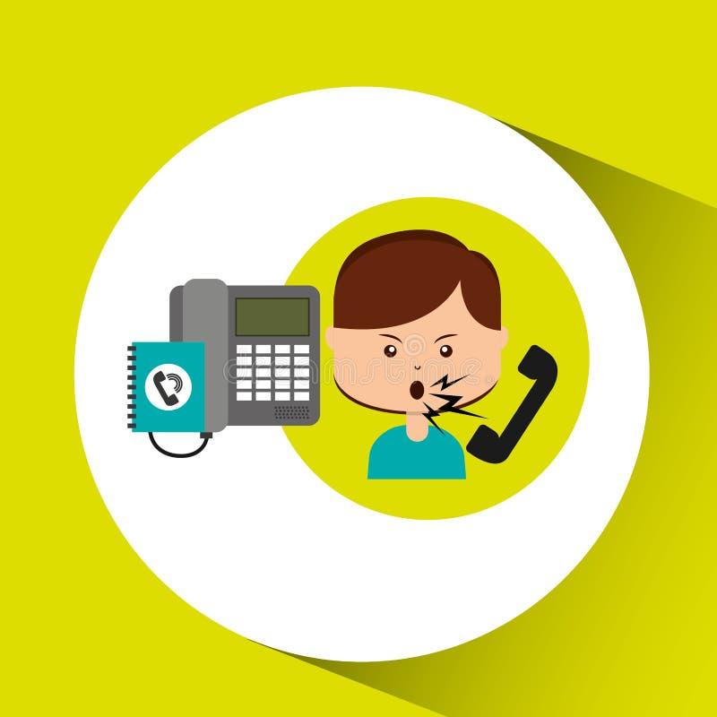 Центр телефонного обслуживания жалоб клиента женщины иллюстрация вектора