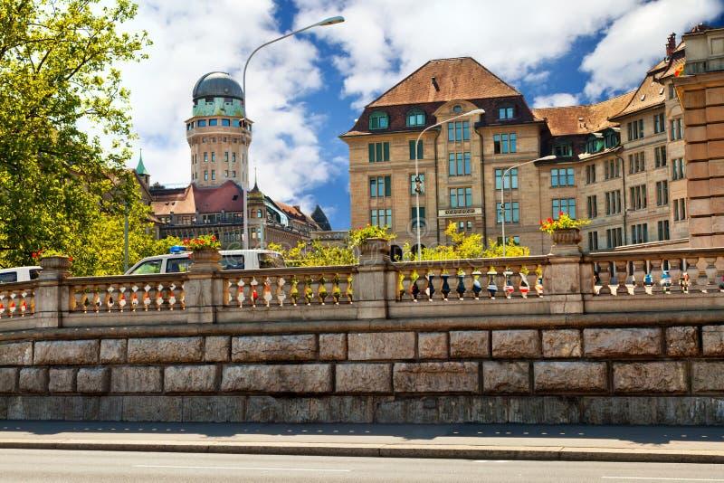 Центр Цюриха стоковое изображение rf