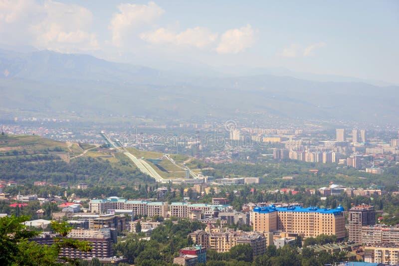 Центр лыжного трамплина, Алма-Ата, Казахстан стоковые изображения rf