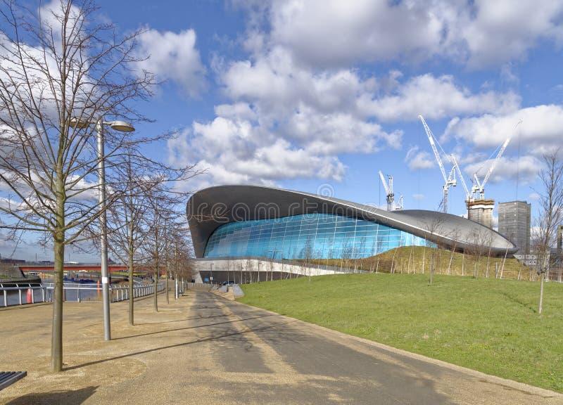 Центр Aquatics Лондона стоковые фотографии rf