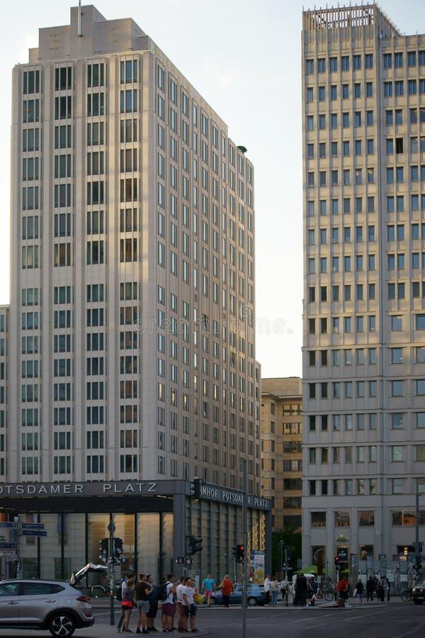 Центр Beisheim на квадрате Потсдама стоковая фотография rf