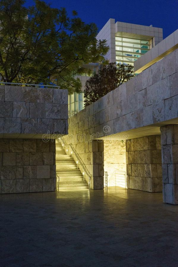 Центр Getty, Лос-Анджелес стоковое изображение rf
