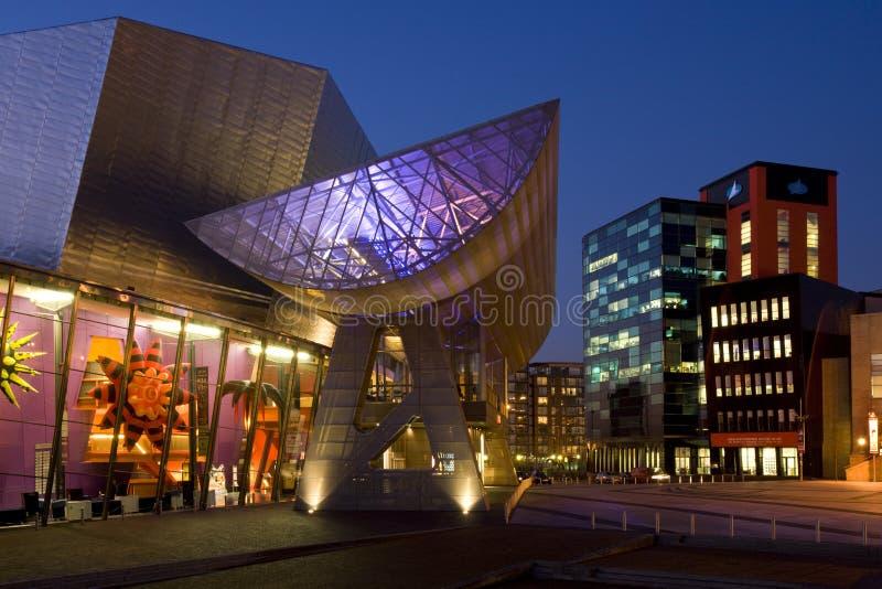Центр Lowery - Manchester - Англия стоковое фото
