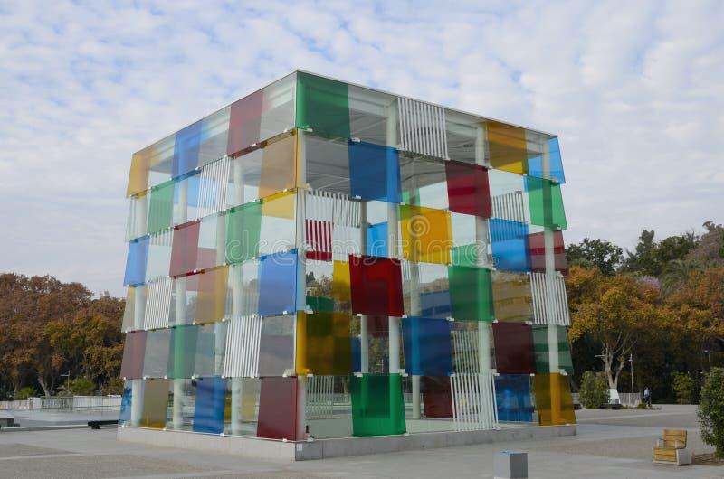 Центр Pompidou в Малаге стоковая фотография