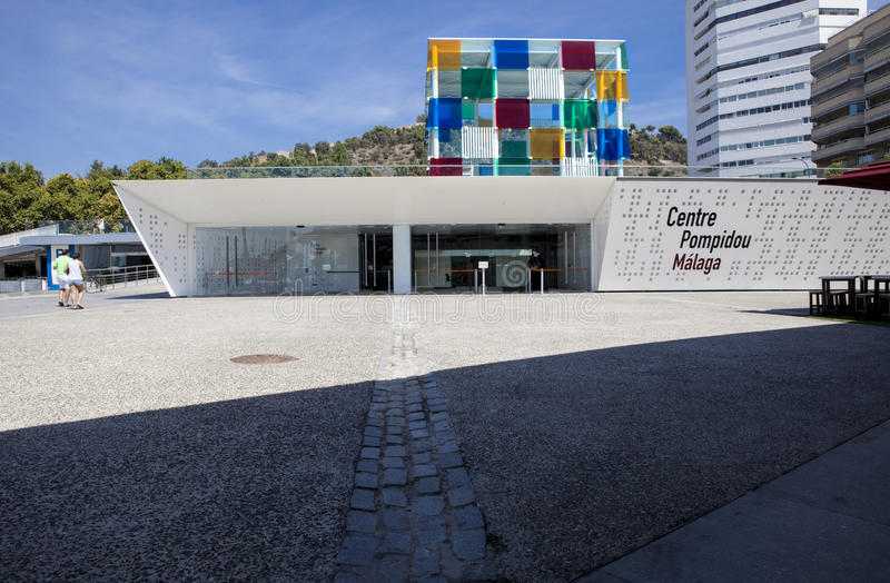 Центр Pompidou Малага стоковое фото