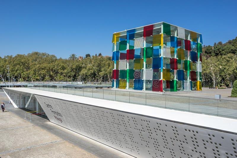 Центр Pompiou в Малага стоковая фотография