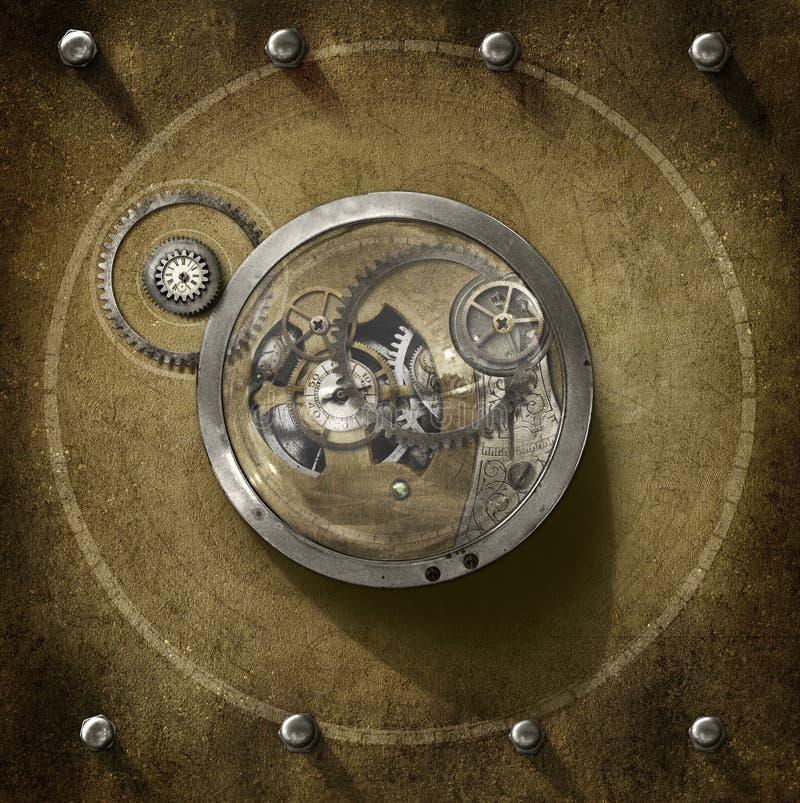 Центр Steampunk иллюстрация вектора