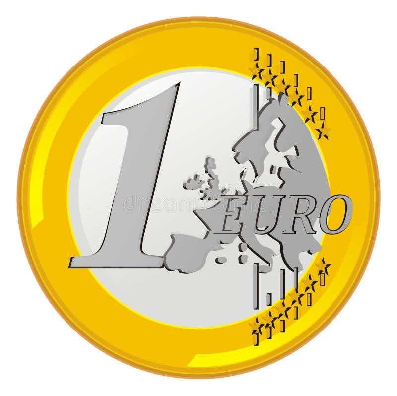 Цент евро иллюстрация штока