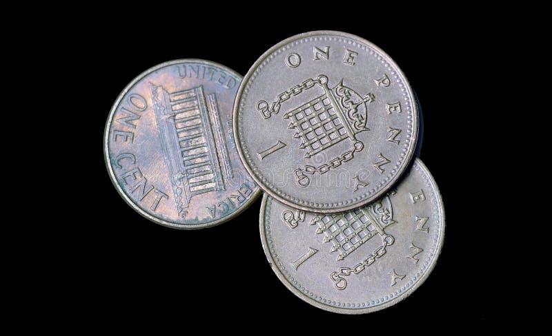 Цент монетки Америки стоковое фото rf