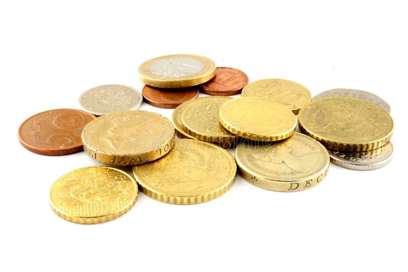 цент чеканит деньги евро стоковые фото